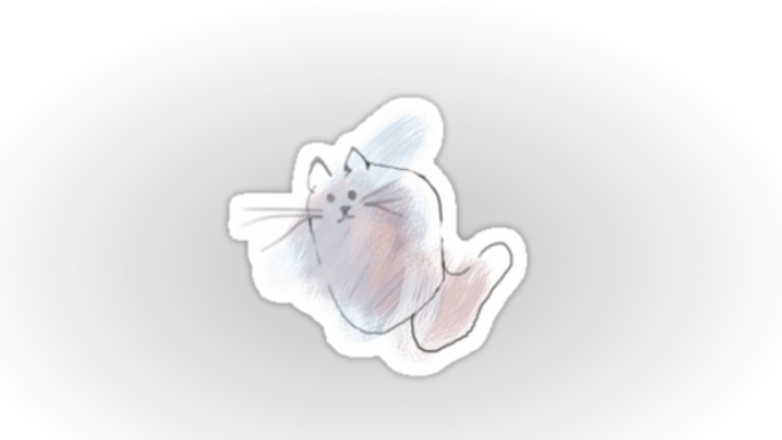 scribble cat sticker