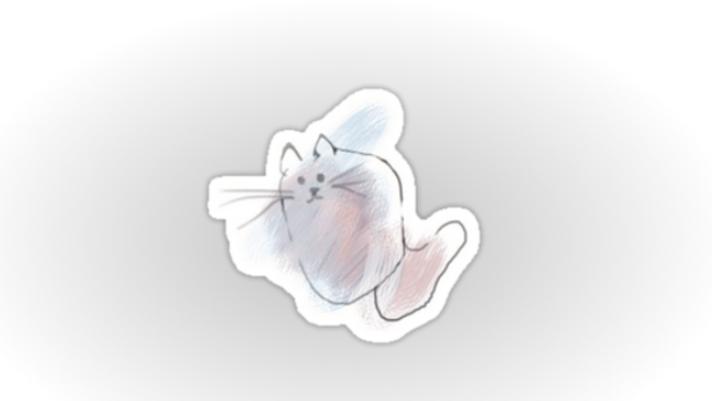scribble cat sticker