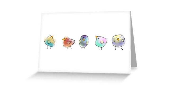 little birds cards